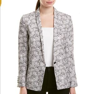 The Kooples Black and White Floral Paisley Suit